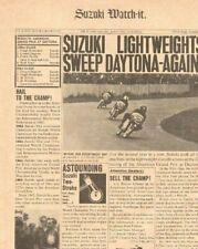 1965 Suzuki Watch It Newspaper Newsletter Style Vintage Motorcyle Ad