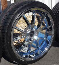 "20"" Chrome FR500 Mustang Wheels & Tires 20x8.5 20x10 5 lug Deep Dish Rims 05-17"