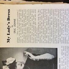 A2e ephemera picture 1940s theatre my lady's dress eric johns isobel jeans