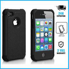 iPhone 5/5S/SE Hybrid Armor Cover Cas Coque Etui Silicone TPU Hoesje Case Black