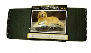 The Original Taupe Pet Bowl Mat in Extra Large - Microfiber - Machine Washable