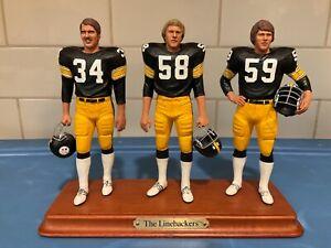 "Danbury Mint  -  Pittsburgh Steelers .......... ""The Linebackers"""