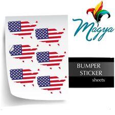 "White Inkjet Printable Vinyl GLOSS Bumper Stickers 50 Sh, 8.5""x11"" Waterproof"