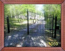 11' or 12' Steel Driveway Gate Inc Post Pkg Yard Home Security Veterans Discount