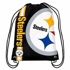 Pittsburgh Steelers Back Pack/Sack Drawstring Gym Bag Sport Backpack Side Stripe