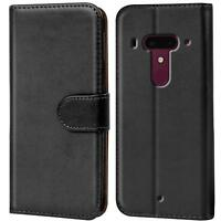 Handy Tasche für HTC U12 + Flip Case Schutz Hülle Cover Wallet Etui Bookcase