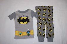Baby Boys I AM BATMAN Knit S/S Pajamas Set TOOL BELT w/ SIPPY CUP Gray 24 MO