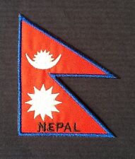 NEPAL NEPALESE NEPALI NATIONAL PRAYER FLAG BADGE IRON SEW ON PATCH BACKPACKER