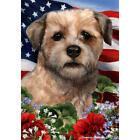 Border Terrier Wheaten Patriotic Flag