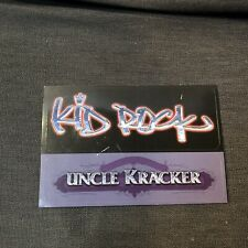Kid Rock & Uncle Kracker  Promo peel-off sticker/Postcard Vintage