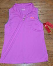 Fila Sport Performance Fitted Golf Sleeveless Shirt Wicking Purple Size Medium