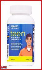 GNC Milestones Teen Boys Multivitamin Ages 12-17, 120 Caplets