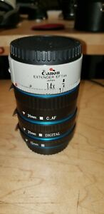 Canon 1.4x EF extender w/3 Piece Macro tubes