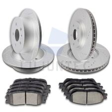 Front and Rear Brake Discs Rotors & Ceramic Pads For 2004-2006 Lexus ES330 Slot