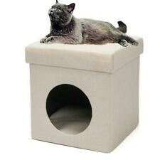 Linen Beige Small Pet Folding Chair Cat Litter Cat Bed Cat House