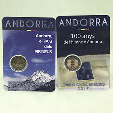 2 EURO GEDENKMÜNZE MÜNZE COIN ANDORRA NATIONALHYMNE + LAND IN DEN PYRENÄEN 2017