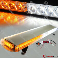88 LED 48 inch Amber White Emergency Warning Truck Strobe Tow Light Bar Roof