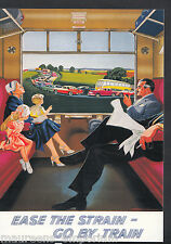 Advertising Postcard - Ease The Strain - Go By Train - By Rail Series  BH6153