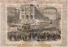 1866 Funerali di Rossini xilografia dal Emporio pittoresco