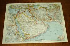 Arabien: alte Landkarte mit Jahreszahl 1941