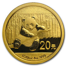 2014 China 1/20 oz Gold Panda BU (Sealed) - SKU #79057