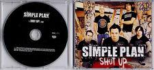 SIMPLE PLAN Shut Up 2004 UK 1-track promo CD