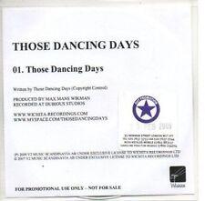 (AS1000) Those Dancing Days, Those Dancing Days - DJ CD