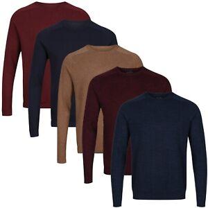 New Mens NEXT™ Jumper Crew Neck Fine Knit Cotton Rich Textured Pullover Top