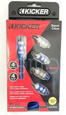 KICKER KI44 Hyper Flex 13 Feet FT 4 Channel 100% OFC Copper Wire RCA Cable NEW
