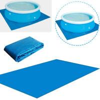 Rectangular Pool Ground Cloths Floor Mat Swimming PE Tarpaulin Carpet Outdoor