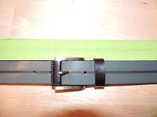 Hugo Boss Gray Black Green 100% Leather Classic Golf Belt 30 32 34 36 38 40 42