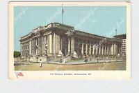 PPC POSTCARD INDIANA INDIANAPOLIS FEDERAL BUILDING EXTERIOR STREET VIEW