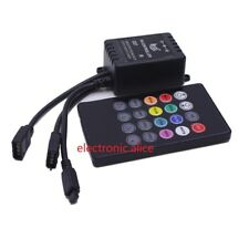 20Key DC12V Double Outputs RGB IR Remote Music controller For 5050 RGB led strip