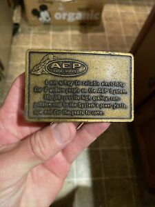 AEP Fuel Supply Brass Belt Buckle