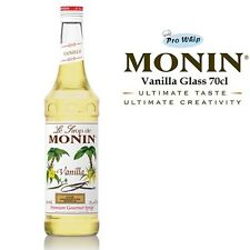 MONIN Coffee Cocktail Syrups - 70cl Glass VANILLA Syrup - USED BY COSTA COFFEE