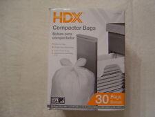 HDX Trash Compactor Bags new box of 30 model 959 933