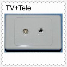 TV OUTLET ANTENNA PHONE SOCKET WALL PLATE TELEPHONE SOCKET WALL OUTLET RJ11