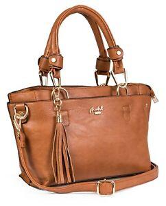 Mabel London - Top Handle Handbag Multi Pockets Satchel Shoulder Bag - LUCY