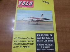 VOLO n.3 del 1964 Mensile di vita aeronautica Aero Club Italia