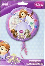 """Disney Sofia the First Round Standard Foil Balloons Decoration 17"""" Tall"""