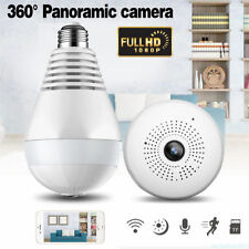 New 360° HD 1080P Wireless Hidden LED Light Bulb Network Fisheye Security Camera