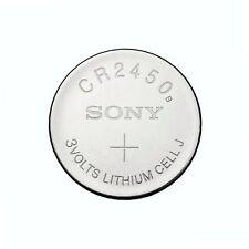 1 x Super Fresh New Sony CR2450 ECR 2450 3v LITHIUM Coin Cell Battery Exp. 2027