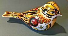 Royal Crown Derby Paperweight Yellowhammer Bird- Gold Stopper