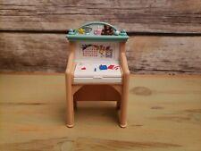 "Fisher Price 1999 Loving Family Dollhouse Kid Desk Child Art Room Accessory 4.5"""