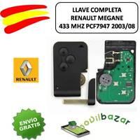 LLAVE CARCASA RENAULT MEGANE CLIO SCENIC CHIP 433 MHZ PCF7947 3 BOTONES 2003-200