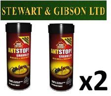 2 x casa DIFESA ANT STOP ANT & nido KILLER granuli facile da usare 2 x 300G vasca da bagno