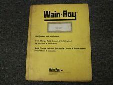 Wain Roy Swinger Bucket For Case 580k Parts Catalog Amp Owner Operator Manual