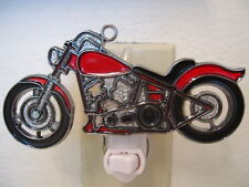 STAINED GLASS STYLE HARLEY DESIGN MOTORCYCLE #2 NIGHT LIGHT-GREAT GIFT FOR ALL!!