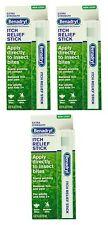 3 Pack - Benadryl Itch Relief Stick 0.47 oz (14 ml) Each
