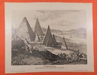 Die ägyptischen Pyramiden Ägypten  Ansicht 1670   DRUCK von 1903